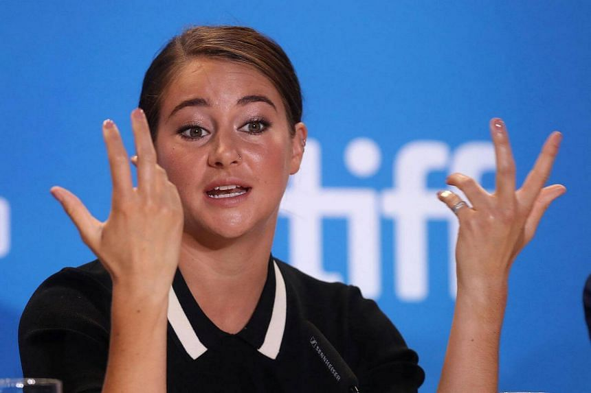 Actress Shailene Woodley attends a press conference to promote the film Snowden at the Toronto International Film Festival, in Toronto.