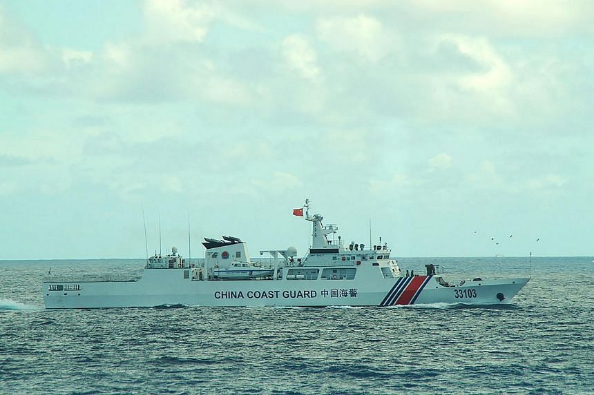 The China coast guard ship 33103 sailing near the waters of disputed East China Sea islands in August 2016.