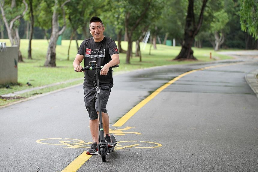 Mr Lee, who spends three to four hours on weekend nights catching Pokemon at East Coast Park near his home, spent $1,300 on an e-scooter to, among other things, catch a rare Pokemon faster and more easily. With his iPhone 6 Plus mounted on his e-scoo