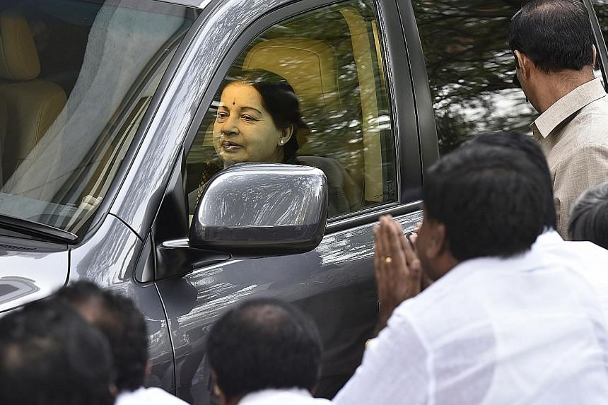 """Concern about Ms Jayalalithaa has mounted since she was hospitalised on Sept 22 with what doctors then diagnosed as """"fever and dehydration"""". The hospital later said she has a lung infection."""