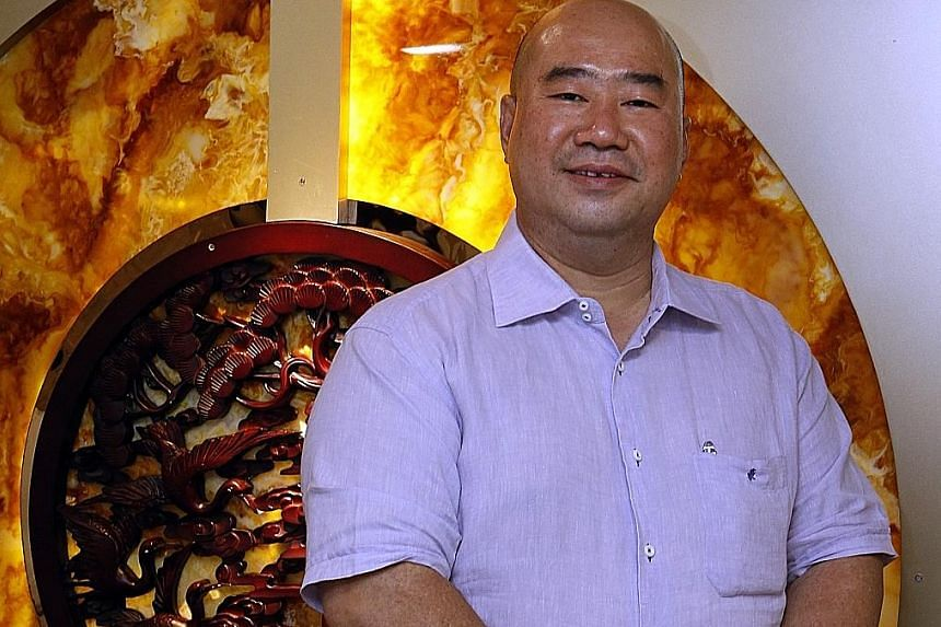 Mr Lee Chiang Howe of Teochew Restaurant Huat Kee has found a market for pre-packaged, ready-to-eat shark's fin and abalone dishes. These give his customers easier access to restaurant-style cooking.