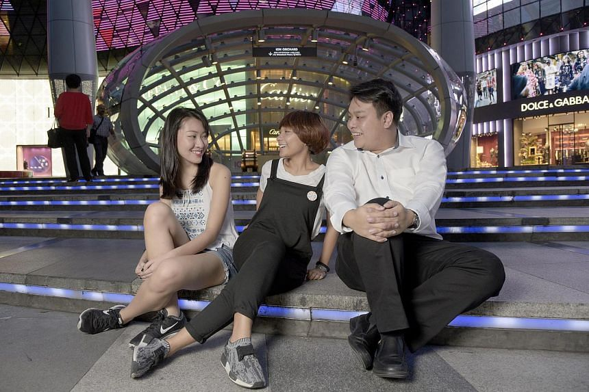 Millennials (left to right) Faith Ong, 19, Ngee Ann Poly Mass Communications student, Amalina Rozman, 25, Creative Director and Delane Lim, 31, CEO.