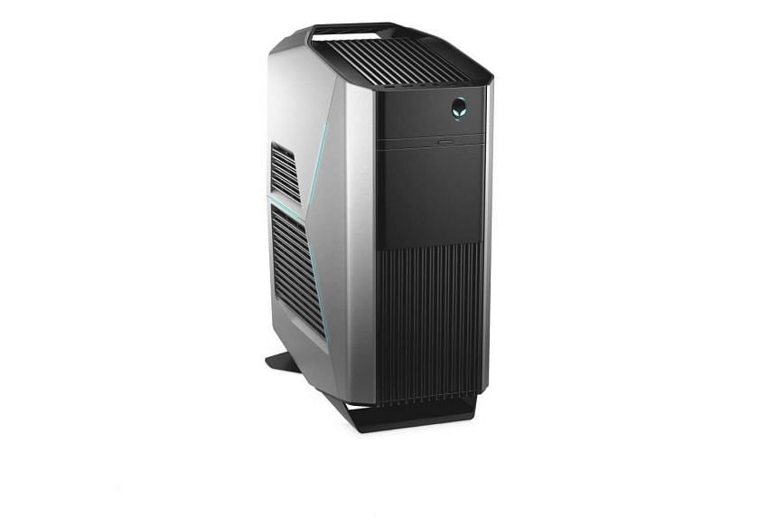 Dell's Alienware Aurora R5 gaming desktop takes up less space while offering a decent amount of expandability.