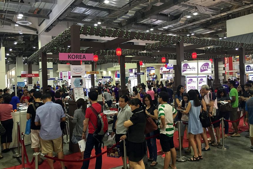 Crowds at the Travel Revolution fair on Aug 21, 2016.