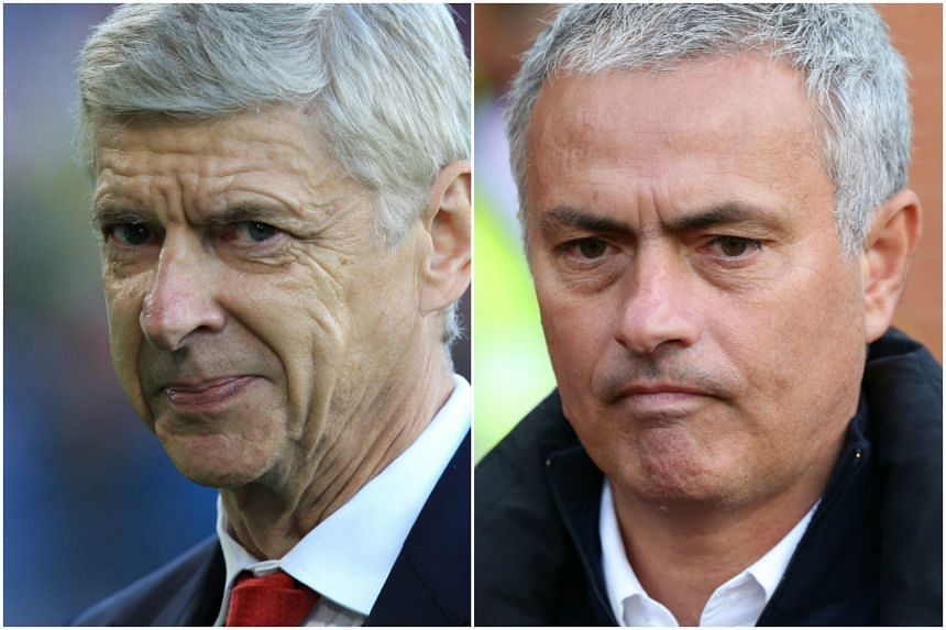 Arsenal manager Arsene Wenger (left) and Chelsea manager Jose Mourinho have had a fierce rivalry since the Portuguese boss moved to England in 2004.