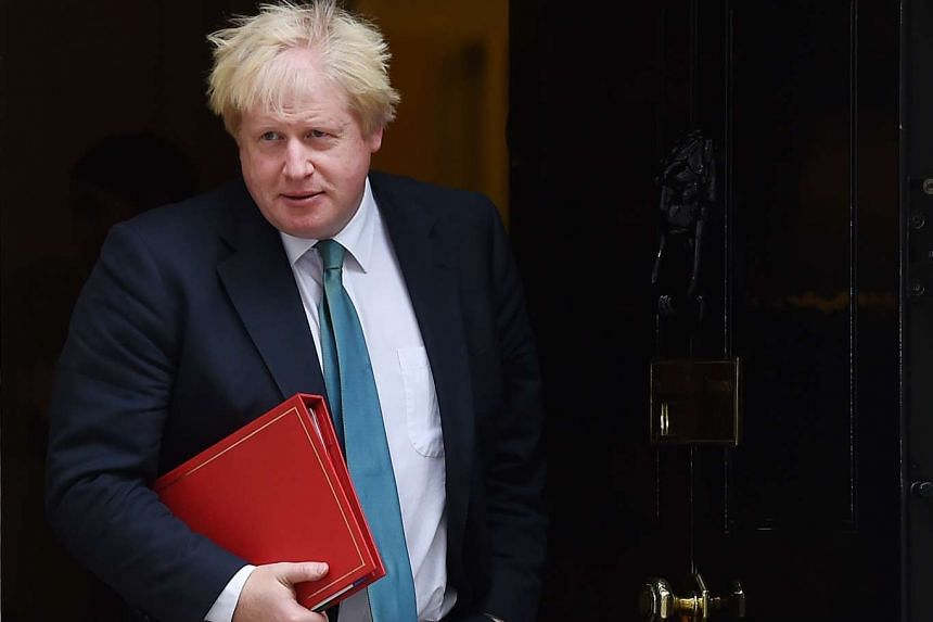 British Secretary of State for Foreign and Commonwealth Affairs, Boris Johnson after a cabinet meeting in London on Oct 11, 2016.