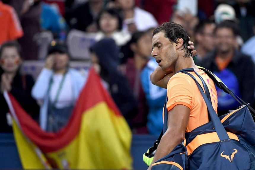 Rafael Nadal after his men's singles match against Viktor Troicki at the Shanghai Masters tennis tournament on Oct 12, 2016.
