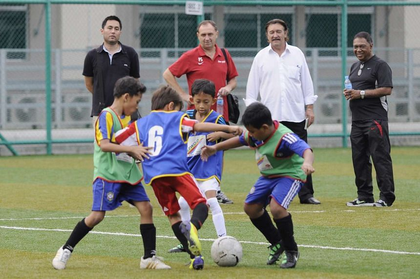 About 50 young footballers aged 10 and below vied for spots in FAS' third Junior Centre of Excellence at Tampines Secondary School on Jan 29, 2011.