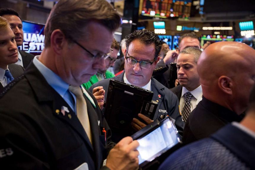 US stocks were trading near one-month lows on Thursday (Oct 13).