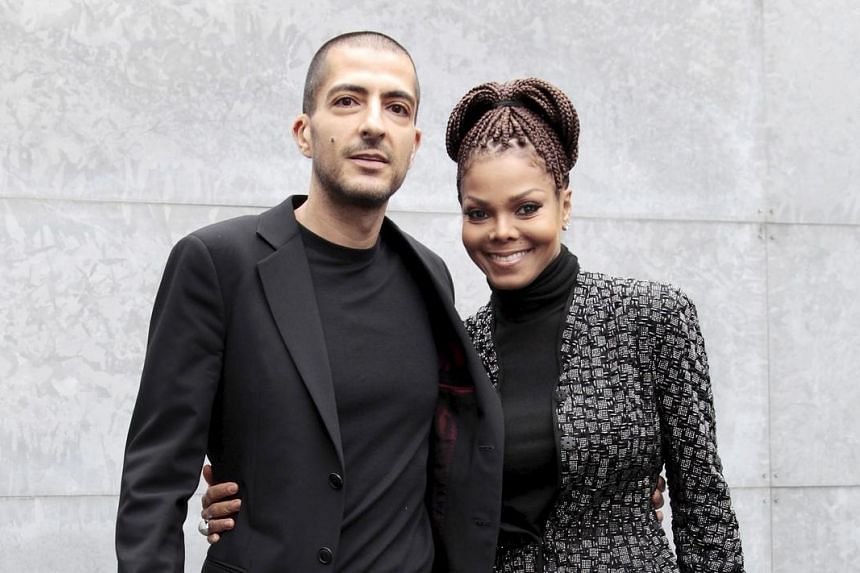 Janet Jackson with her spouse Wissam Al Mana. She is expecting at age 50.