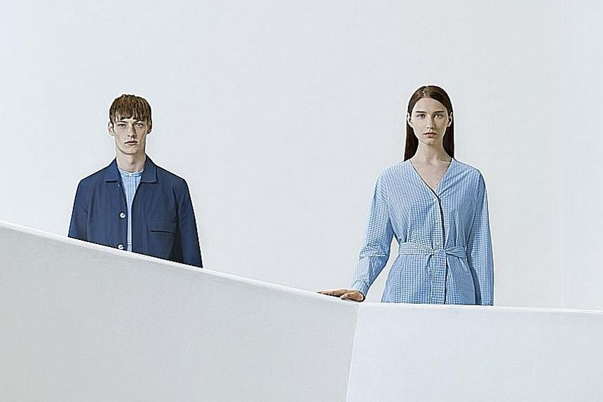 A new collection by Swedish brand Cos is inspired by the late American artist Agnes Martin's painted grids and lines in delicate pastels.