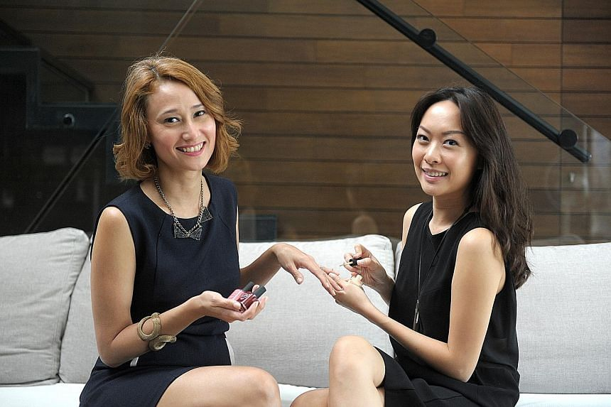 Ms Bernadine Reddy (above left) and Ms Caryn Tan-Lim are the founders of Singapore Beauty Week. Hair salon Scissors Art, owned by Carrie Choo (above), and Dainty Beaute salon, co-founded by Bernice Wong (left), are among the more than 50 merchants li