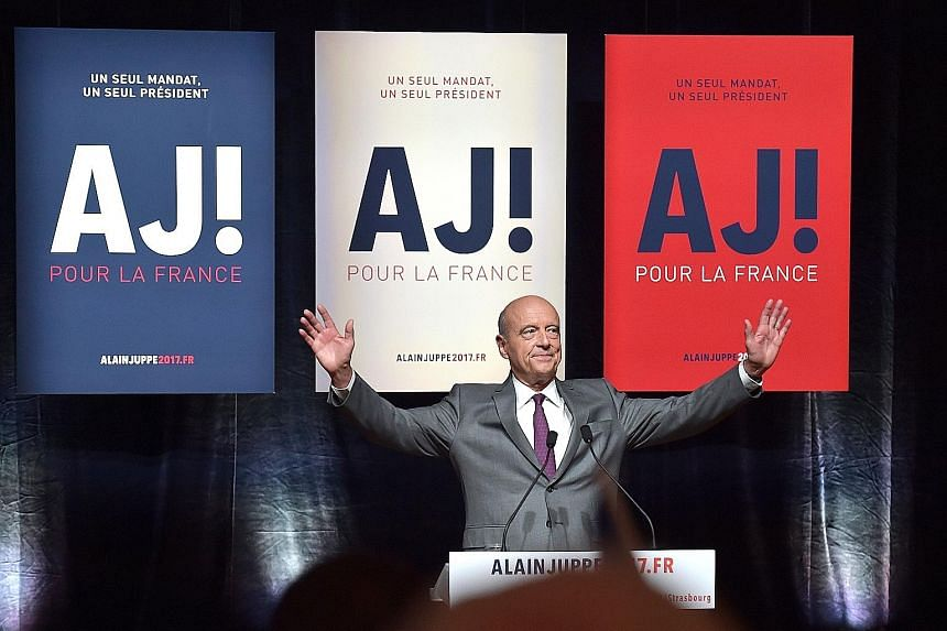 Former prime minister Alain Juppe is the favourite in the primary race to become the right-wing candidate in the French presidential election next year.