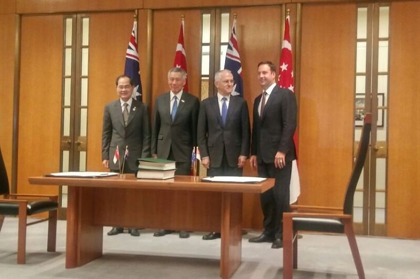 Singapore and Australia signed four key agreements on Thursday (Oct 13) morning, marking the start of the first tranche of initiatives under the Comprehensive Strategic Partnership.