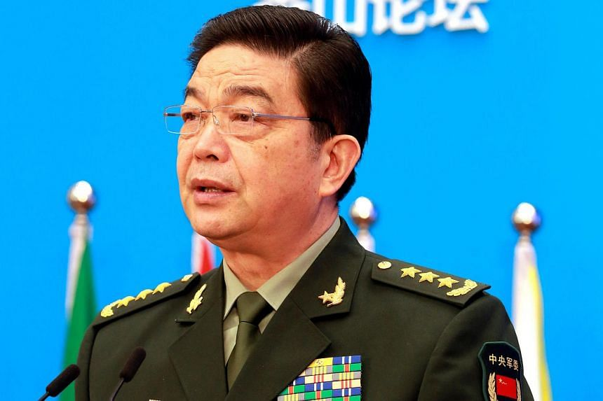 Chinese Defence Minister Chang Wanquan speaks at the Xiangshan Forum, in Beijing, China on Oct 11, 2016.