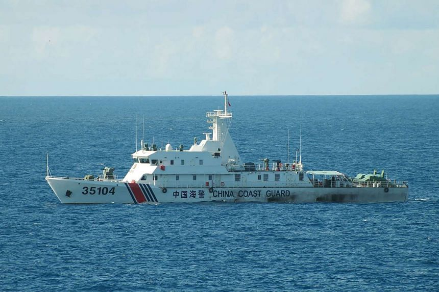 China coast guard ship 35104 sailing near the waters of disputed East China Sea islands on Aug 6, 2016.