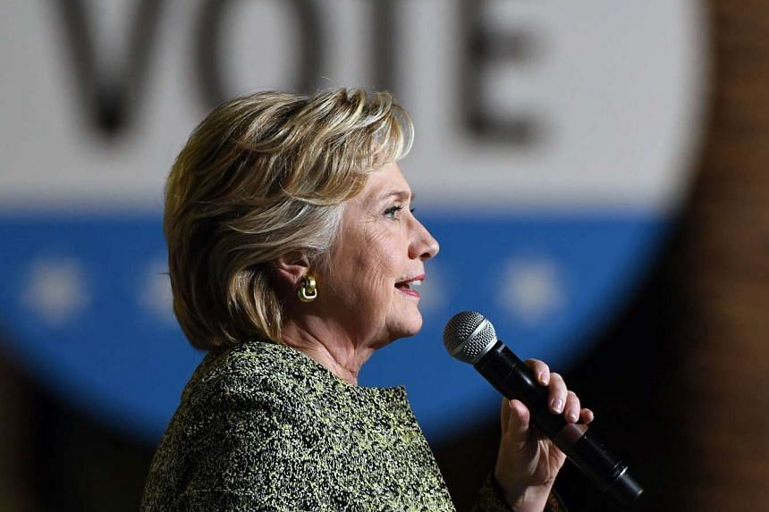 Democratic presidential nominee Hillary Clinton speaks during a campaign rally at The Smith Center for the Performing Arts on Oct 12, 2016 in Las Vegas.