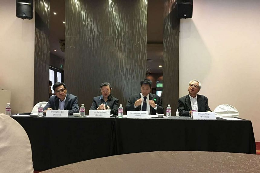 On the panel at IHC's meeting yesterday are (from left) Dr Jong Hee Sen, Ms Lim Beng Choo, Mr Leonard Chia and Mr Ong Lay Khiam.