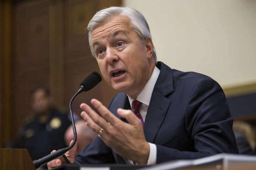 Wells Fargo CEO John Stumpf testifies before the House Financial Services Committee on Sept 29, 2016.