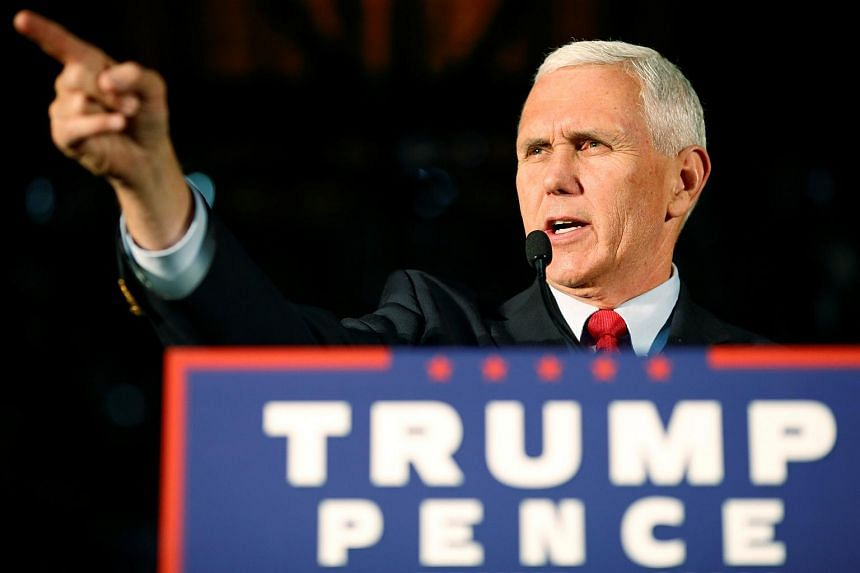 Indiana Governor Mike Pence, the Republican vice presidential nominee, speaks during a rally in Charlotte, North Carolina on Oct 10, 2016.