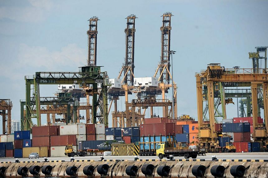Singapore's exports are expected to have fallen in September due to persistent slack in the global economy.
