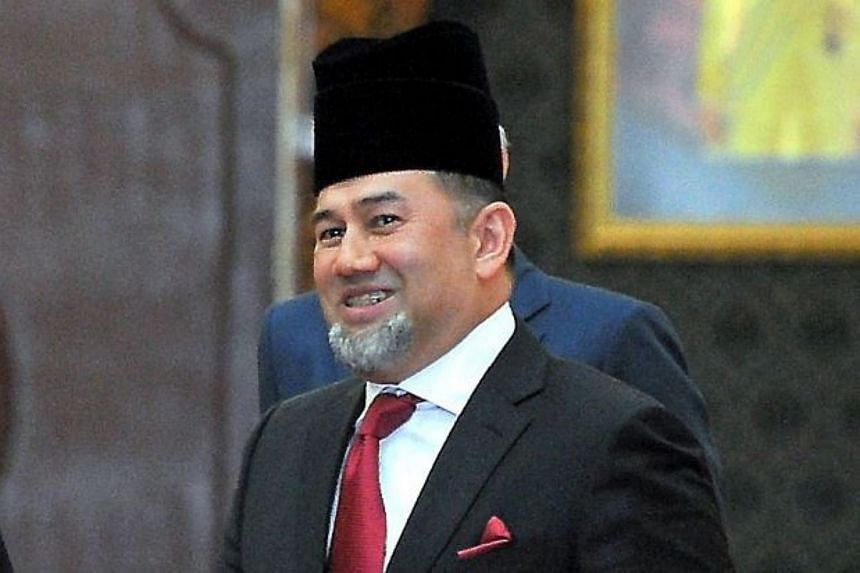 Sultan Muhammad V will serve a five-year term effective on Dec 13.