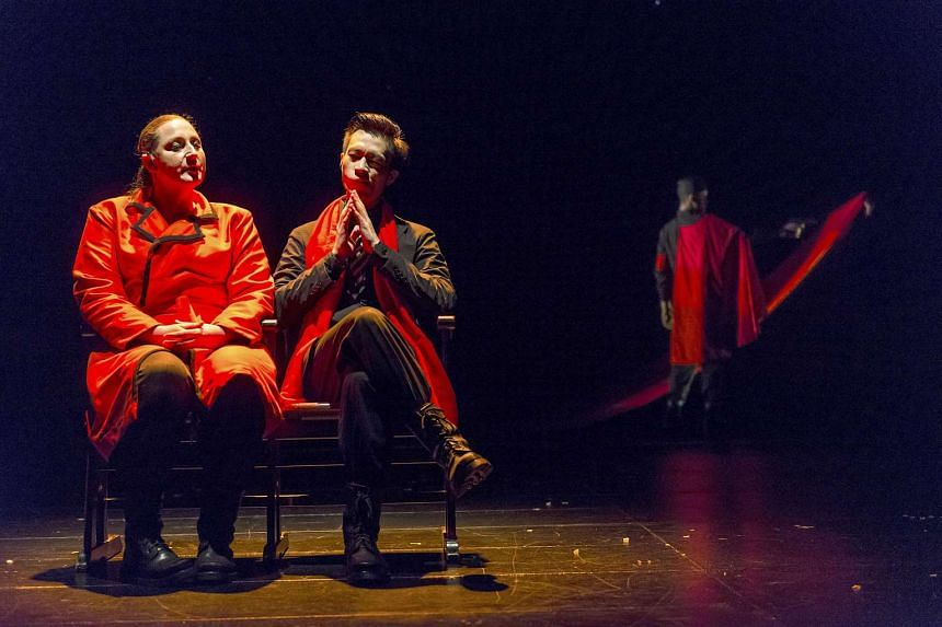 Joshua Lim and Edith Podesta in Starring Hitler As Jekyll And Hyde, the latest production from The Finger Players.