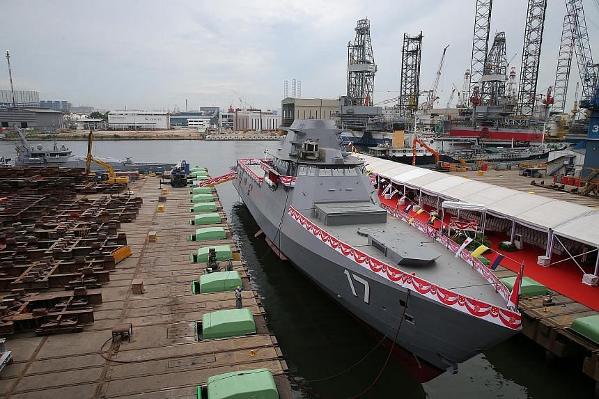 Unity is its name and a bottle of champagne was smashed against its hull yesterday, to mark the launch of the Republic of Singapore Navy's latest warship. A Littoral Mission Vessel (LMV), it is the navy's third such ship after Independence and Sovere