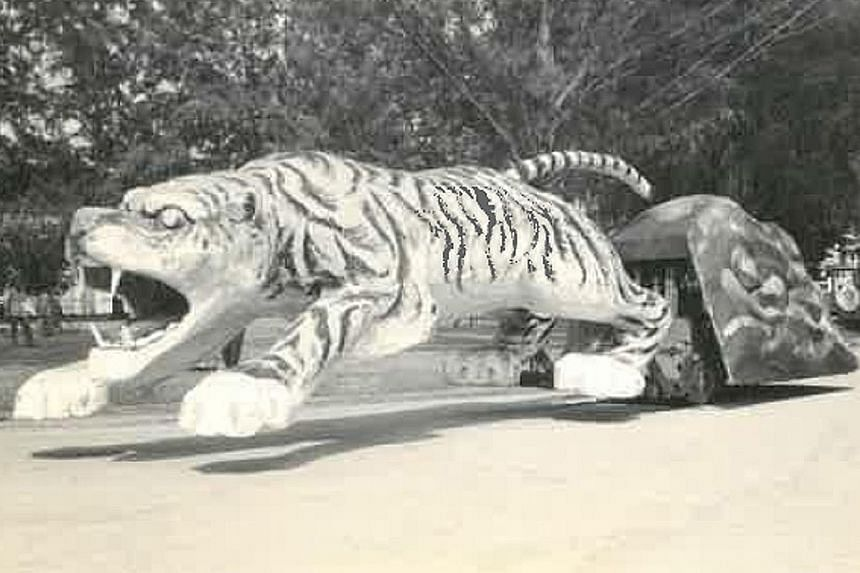 This giant tiger was the first float to appear in a Chingay parade back in 1974. A similar float is being designed for next year's parade, which will also be the event's 45th anniversary.