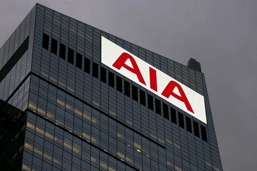 The company name is seen displayed on top of AIA Central at the financial Central district in Hong Kong, China on Nov 10, 2015.