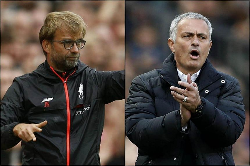 Jurgen Klopp (left) and Jose Mourinho will be looking to outdo each other when both sides meet at Anfield on Monday.