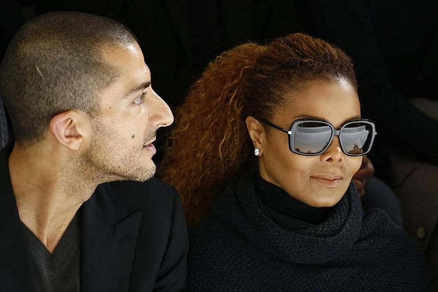 Janet Jackson (right) and her husband Wissam Al Mana attend the Hermes Spring/Summer 2016 women's ready-to-wear collection show in Paris.