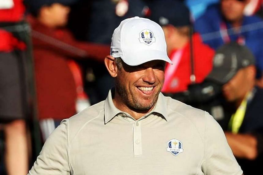 Westood, 43, (above in a file photo) reeled off five birdies in a dynamic eight-hole run on the back nine.