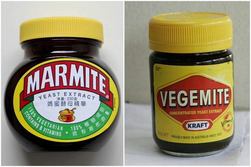 The Australians are as proud of their Vegemite (right) as the British are fond of Marmite.