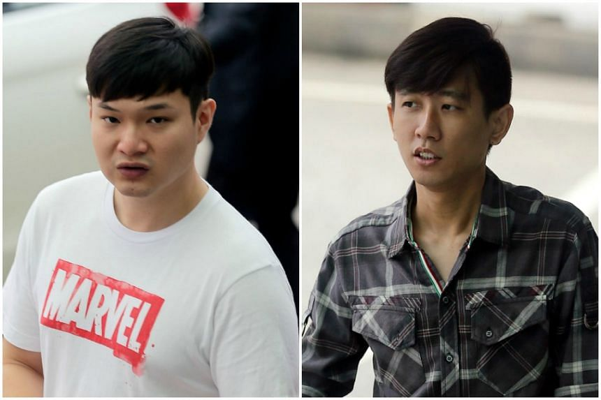 Ng Jun Siang (left), 25, is accused of taking $238,530 in bribes, while Tony Tan Kim Chong, 36, is accused of taking $18,750 in bribes.