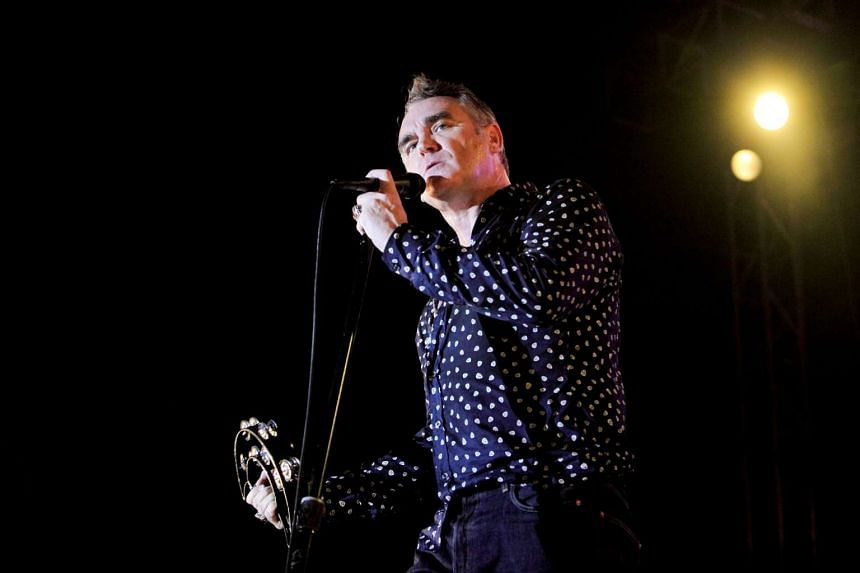 Vocalist Steven Patrick Morrissey, better known as just Morrissey, of the 1980s British alternative rock band The Smiths.