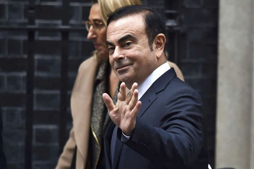Nissan's Ghosn leaves 10 Downing Street after meeting Britain's Prime Minister Theresa May in London, Britain, Oct 14, 2016.