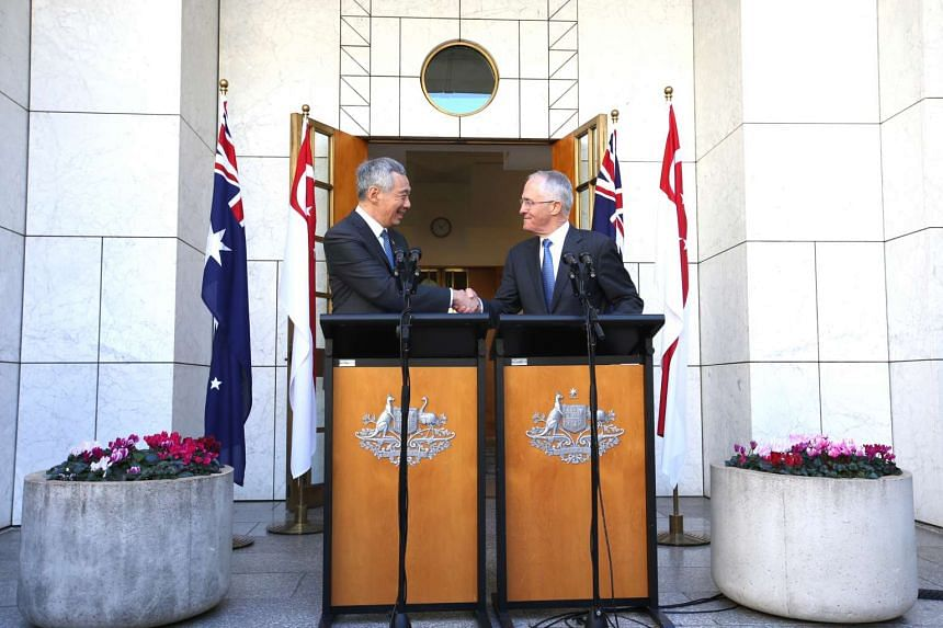 Joint Press Conference between Prime Minister Lee Hsien Loong and Prime Minister Malcolm Turnbull at Parliament House in Canberra, Australia on Oct 13, 2016.