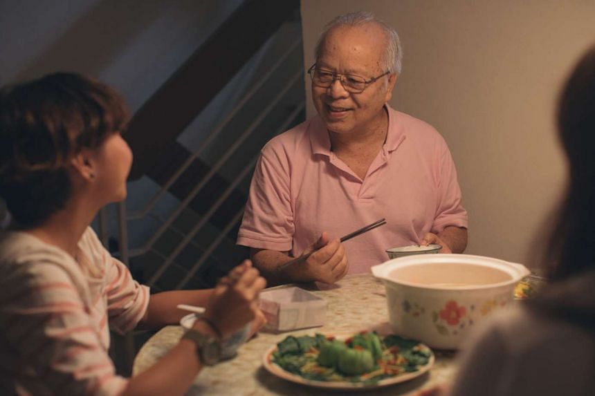 My Father After Dinner stars the director's friends and family, such as her father Ng Man Cheh (above), while Ways Of Seeing takes viewers on a visual journey through its blind characters.