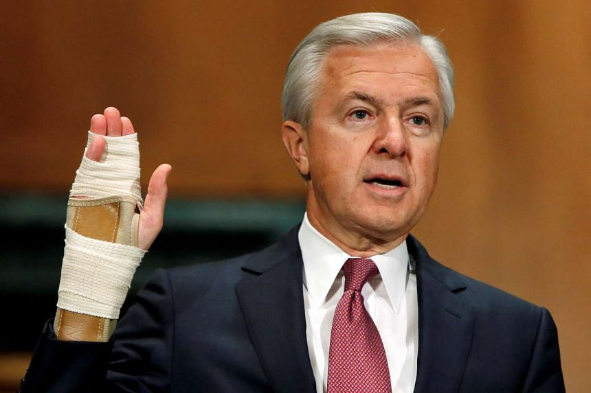 Wells Fargo CEO John Stumpf testifies before a Senate Banking Committee hearing on the firm's sales practices on Capitol Hill in Washington, US, on Sept 20, 2016.