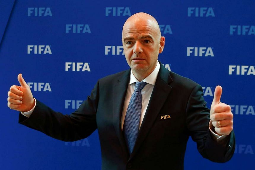 Gianni Infantino gestures after a meeting of the Fifa Council at Fifa headquarters in Zurich, Switzerland Oct 14, 2016.
