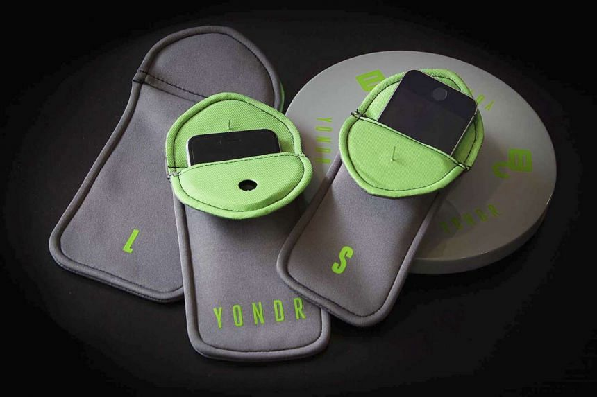 Yondr, a lockable pouch used at performances. Fans keep the pouch with them, but it is impossible for them to snap pictures, shoot videos or send text messages during the performance while the pouch is locked.