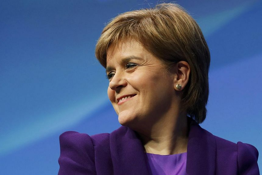 Scotland's First Minister Nicola Sturgeon at the Scottish National party conference in Glasgow, Scotland on Oct 14, 2016.