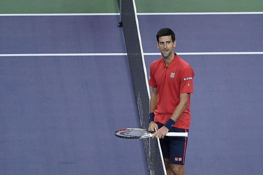 World No. 1 Novak Djokovic of Serbia (above) will face Roberto Bautista of Spain in the semi-finals of the Shanghai Masters today. Djokovic has won the tournament three times, in 2012-13 and last year.