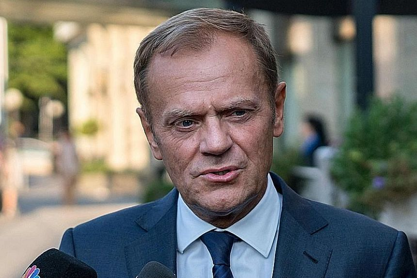 MR DONALD TUSK, making it clear that there will no compromises where the EU's interests are concerned.