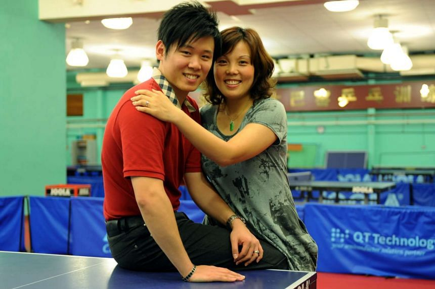Wang Yuegu (right) announced her divorce from Gabriel Lee on Thursday (Oct 13) on Facebook.