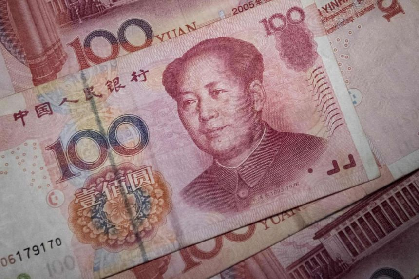 The US Treasury said that although the yuan (above) had fallen in the past year, this decline was driven by market pressures.