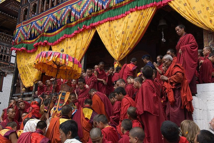 The Thimphu Tshechu is one of the most popular festivals in Bhutan.