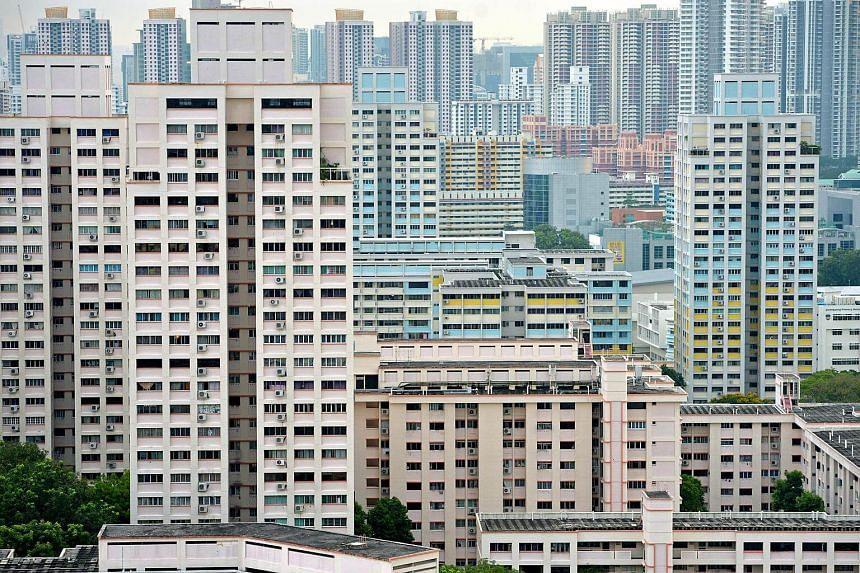 Housing flats at Bishan estate.