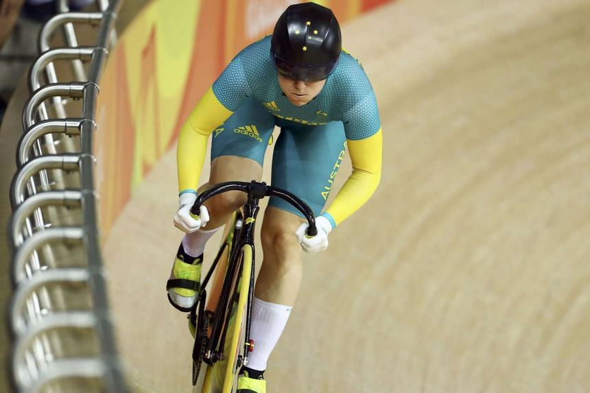 Australia's Anna Meares competes during the Women's Sprint track cycling qualifying event during the Rio 2016 Olympic Games on Aug 18, 2016.